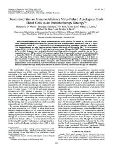 Inactivated Simian Immunodeficiency Virus ... - Journal of Virology