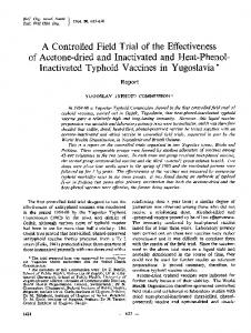 Inactivated Typhoid Vaccines in - Europe PubMed Central