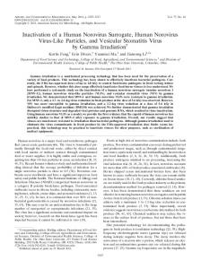 Inactivation of a Human Norovirus Surrogate, Human Norovirus Virus ...