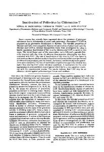Inactivation of poliovirus by chloramine-T
