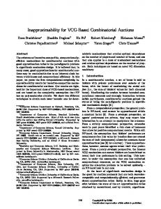 Inapproximability for VCG-Based Combinatorial Auctions
