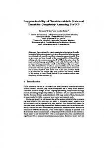 Inapproximability of nondeterministic state and ... - Semantic Scholar