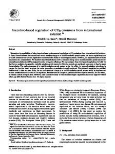 Incentive-based regulation of CO2 emissions from international aviation