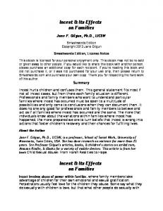 Incest & Its Effects on Families Incest & Its Effects on ... - Smashwords