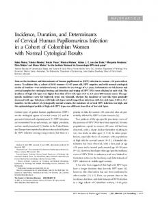 Incidence, Duration, and Determinants of Cervical Human ...