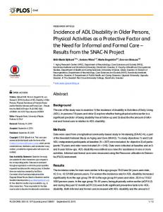 Incidence of ADL Disability in Older Persons ... - Semantic Scholar