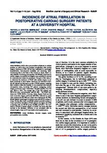 incidence of atrial fibrillation in postoperative cardiac surgery patients ...