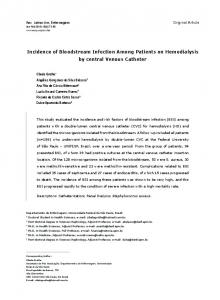 Incidence of Bloodstream Infection Among Patients ... - Semantic Scholar