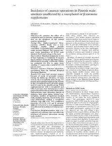 Incidence of cataract operations in Finnish male smokers unaVected ...