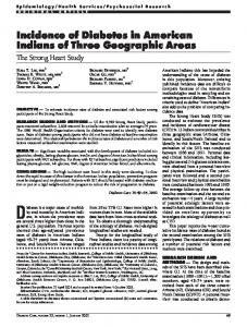 Incidence of Diabetes in American Indians of Three ... - Diabetes Care