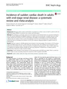 Incidence of sudden cardiac death in adults with ... - Semantic Scholar