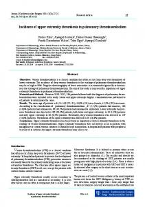 Incidence of upper extremity thrombosis in ... - Semantic Scholar