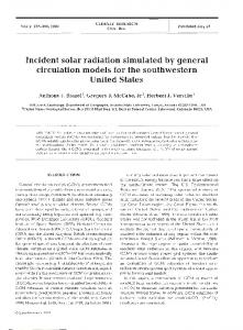 Incident solar radiation simulated by general ... - Inter Research