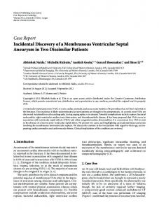 Incidental Discovery of a Membranous Ventricular Septal Aneurysm in ...
