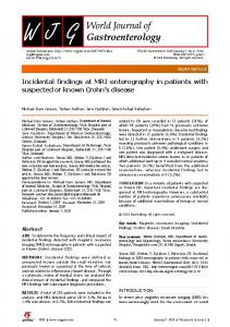 Incidental findings at MRI-enterography in patients with ... - CiteSeerX