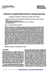 Inclination of magnetic fields and flows in sunspot penumbrae