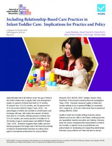 Including Relationship-Based Care Practices in Infant-Toddler Care ...
