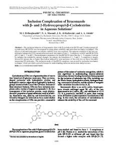 Inclusion complexation of Itraconazole with β ... - Springer Link