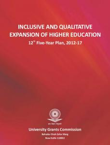 Inclusive and Qualitative Expansion of Higher Education
