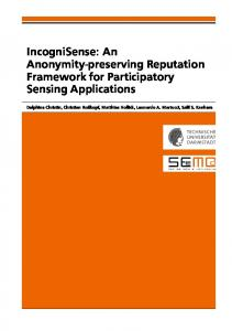 IncogniSense: An Anonymity-preserving ... - Semantic Scholar
