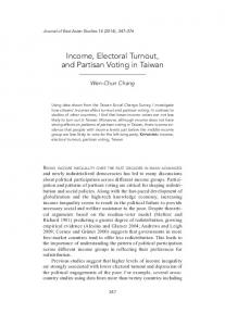Income, Electoral Turnout, and Partisan Voting in ...