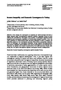 Income Inequality and Economic Convergence in Turkey - Springer Link