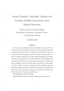 Income Taxation, Commodity Taxation and Provision of Public Goods ...
