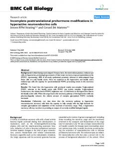 Incomplete posttranslational prohormone modifications in hyperactive ...