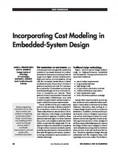 Incorporating Cost Modeling in Embedded-System Design - IEEE Xplore