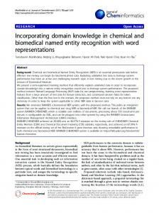 Incorporating domain knowledge in chemical and