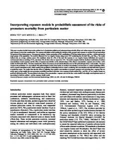 Incorporating exposure models in probabilistic assessment of the risks