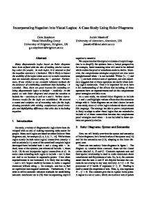 Incorporating Negation into Visual Logics: A Case