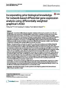 Incorporating Prior Knowledge for Network ... - BMC Bioinformatics