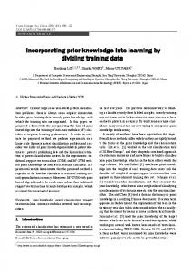 Incorporating prior knowledge into learning by dividing training ... - BCMI