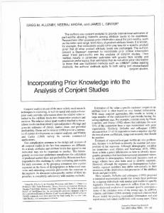 Incorporating prior knowledge into the analysis of