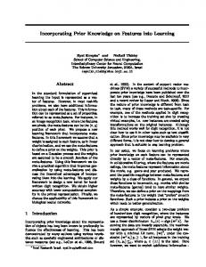 Incorporating Prior Knowledge on Features into Learning - CS - Huji