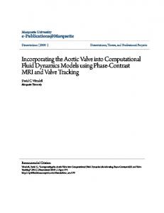 Incorporating the Aortic Valve into Computational Fluid Dynamics ...