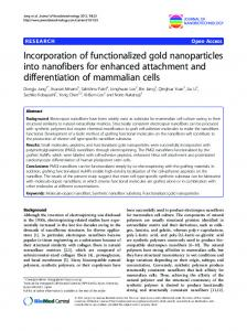 Incorporation of functionalized gold nanoparticles ... - Semantic Scholar