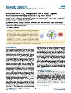 Incorporation of In2S3 Nanoparticles into a Metal ... - ACS Publications