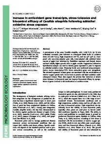 Increase in antioxidant gene transcripts, stress ... - Wiley Online Library