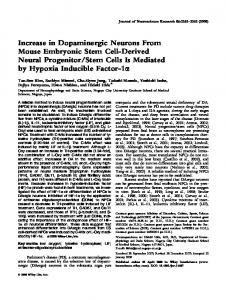 Increase in dopaminergic neurons from mouse ... - Wiley Online Library