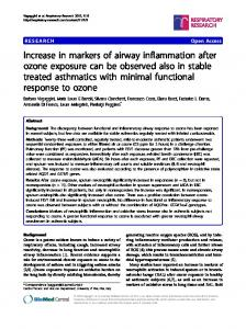 Increase in markers of airway inflammation after ... - BioMedSearch