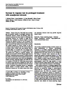 Increase in response rate by prolonged treatment with ... - Springer Link