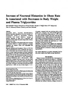 Increase of Neuronal Histamine in Obese Rats ... - Wiley Online Library