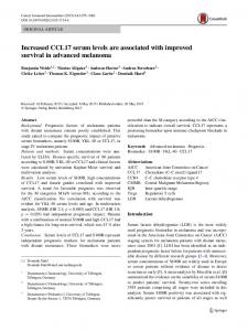 Increased CCL17 serum levels are associated with ... - Springer Link