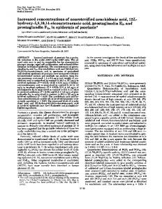 Increased concentrations of nonesterified arachidonic acid, 12L ...