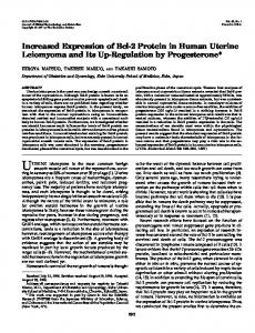 Increased Expression of Bcl-2 Protein in Human Uterine Leiomyoma ...