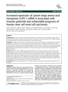 Increased expression of system large amino acid ... - Springer Link