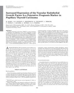Increased Expression of the Vascular Endothelial Growth Factor Is a ...