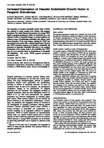 Increased Expression of Vascular Endothelial Growth Factor in ...